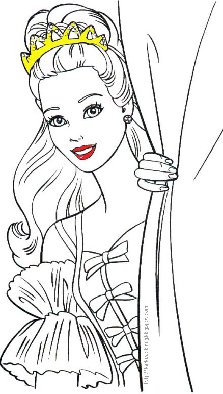 BARBIE COLORING PAGES: BARBI COLORING PAGES