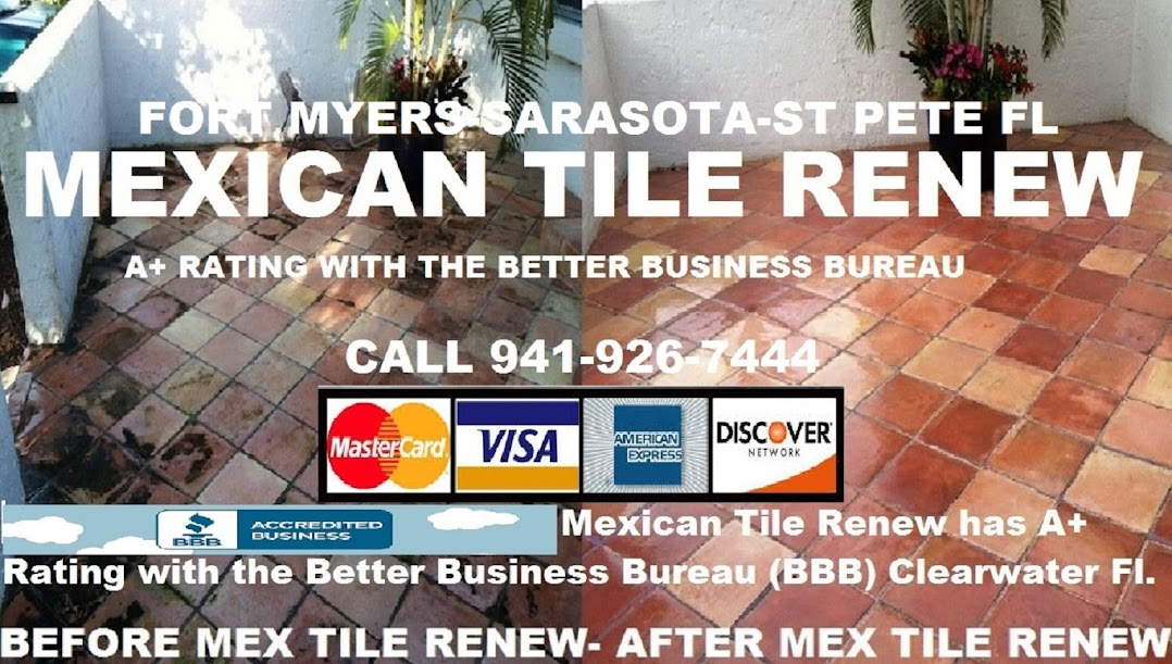 Mexican Tile Renew Sarasota Fl Cleaning and Sealing  Mexican Tile Since 1995