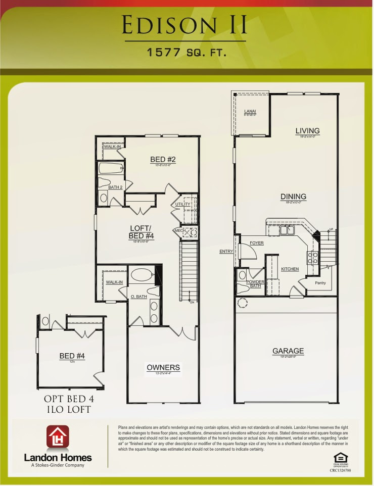 Landon homes featuring the edison ii floor plan for Landon homes floor plans