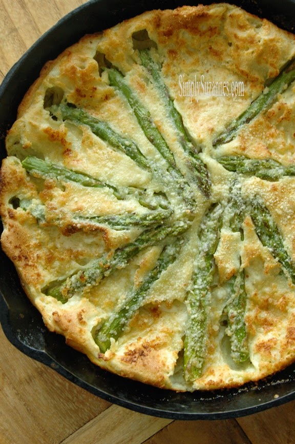 asparagus & fontina dutch baby