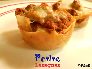 Petite Lasagnas | Cute little lasagna cups you can devour in two bites! #recipePetite Lasagnas | Cute little lasagna cups you can devour in two bites! #recipe