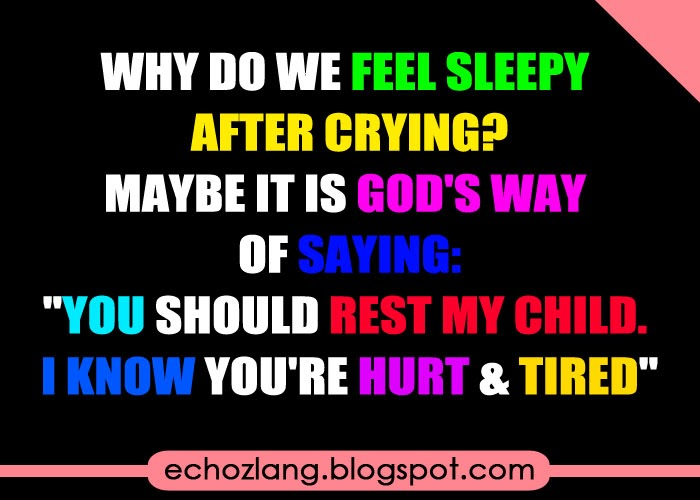 Why do we feel sleepy after crying.