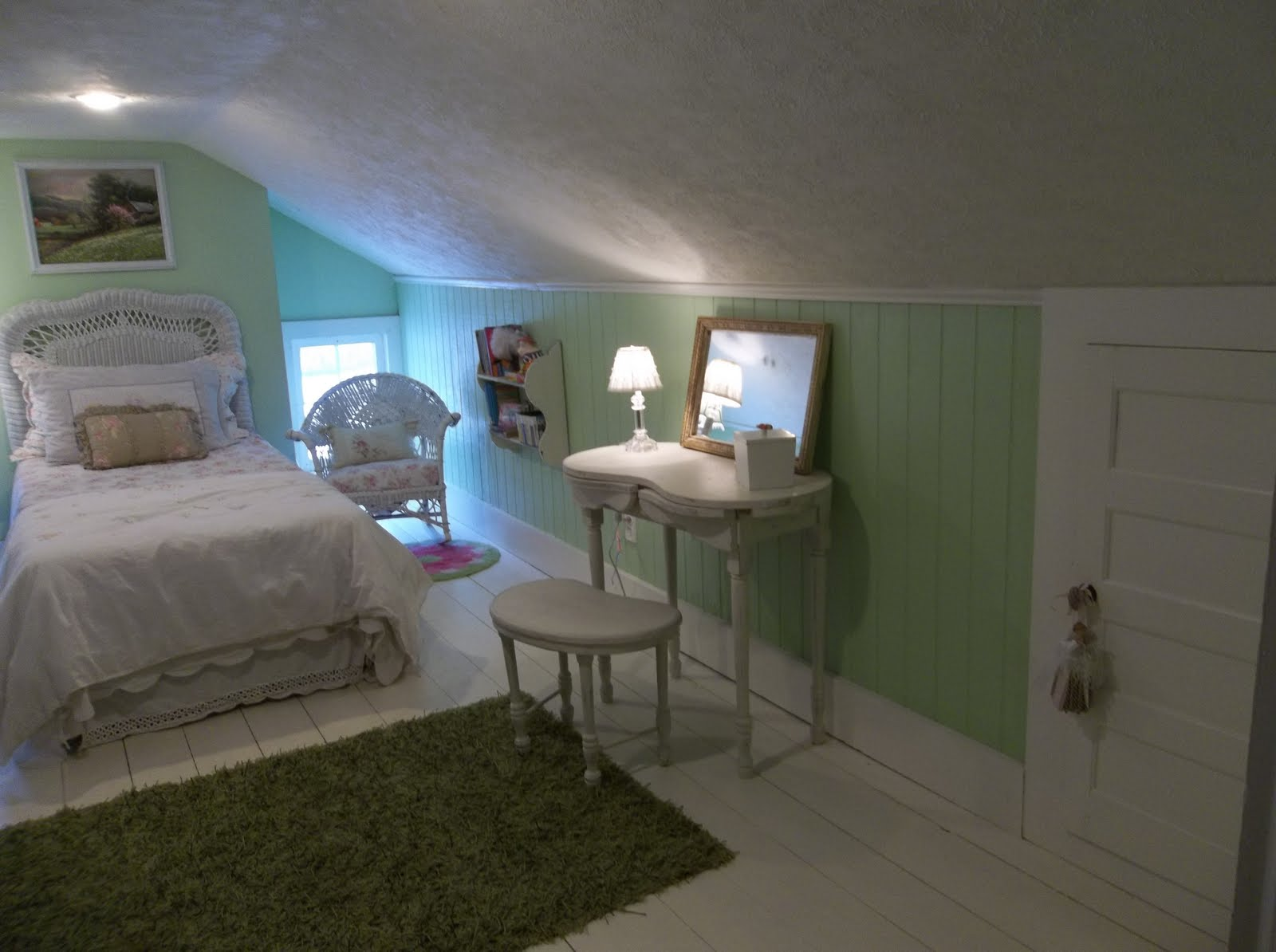 The fanciful farmhouse the attic room for Bedroom ideas low ceiling