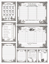 Baroque AD&D Character Sheet (back)
