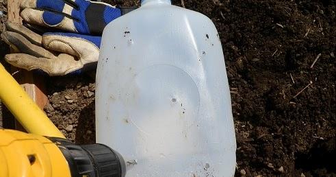 The Backyard Garden Milk Jug Slow Drip Watering System