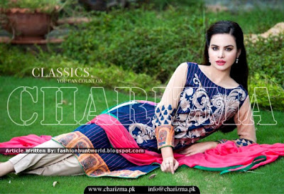 Latest Luxury Lawn Embroidered Collection 2015 By Charizma
