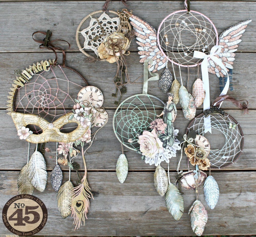Msliberty creations dreamcatchers with graphic 45 for Ideas for making dream catchers