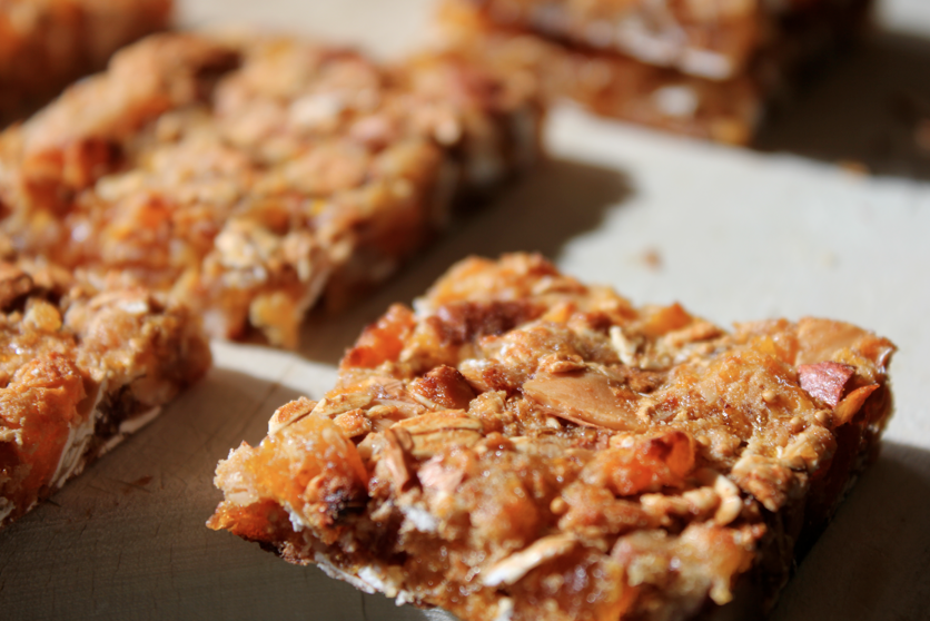 Milk 'N Cookiezzz: Apricot + Fig + Pecans + Nuts = Granola Bars :)