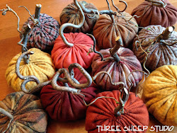 How To Make Rustic Wool Pumpkins...