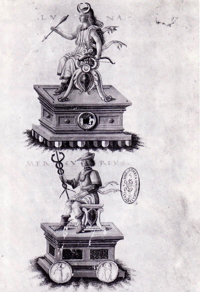 Manuscrito Hermético Alquímico de Nicola degli Agli, 1480. Biblioteca Vaticana.