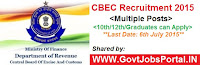Central Excise & Service Tax recruitment 2015