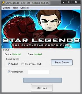 star legends free hack tool android ios