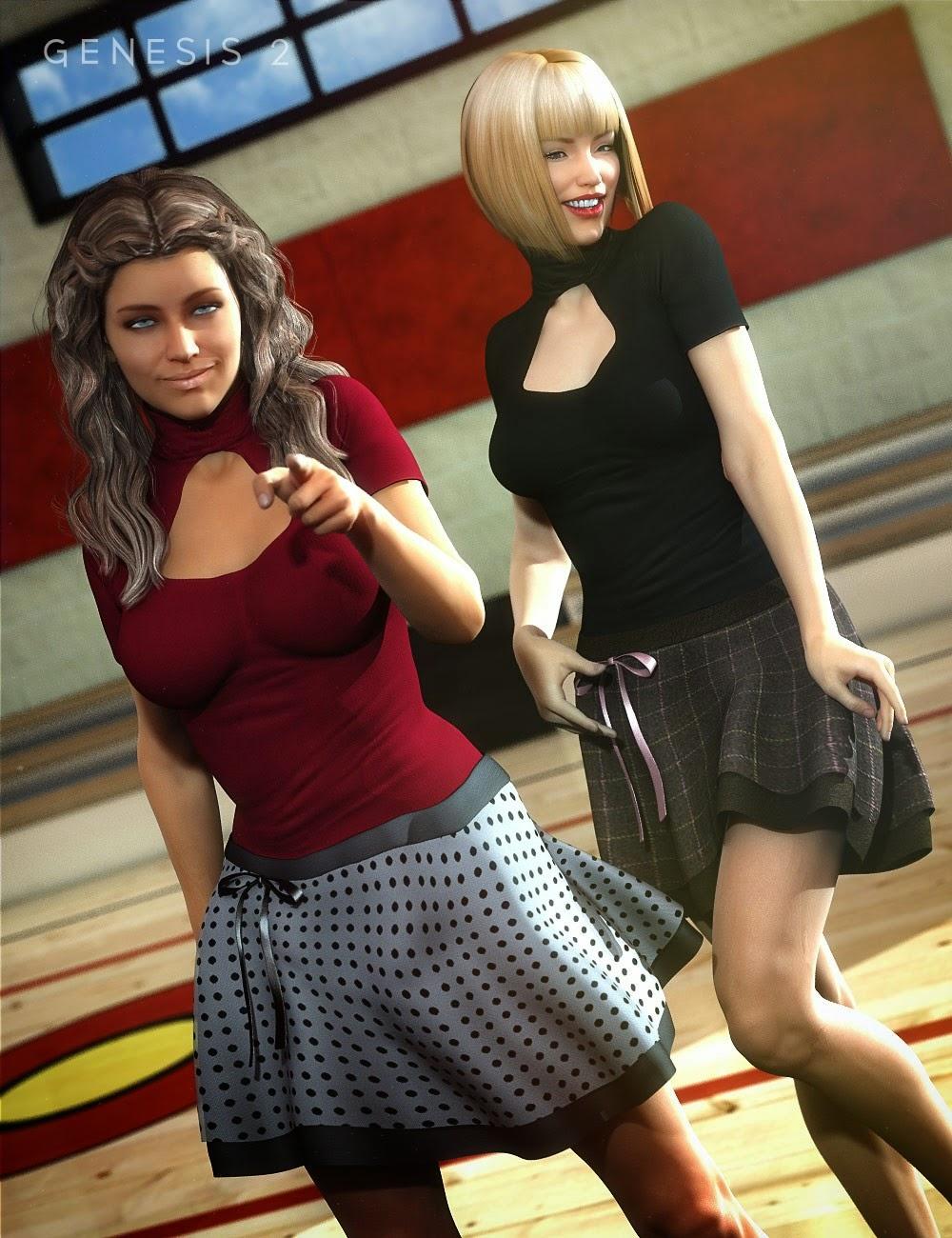 Ladybug Outfit pour Genesis 2 Femme