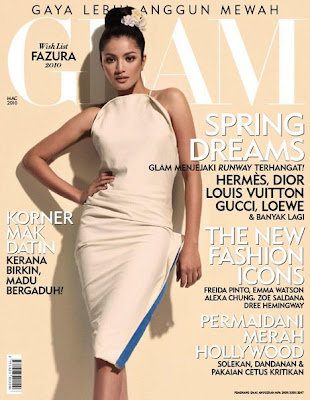 Fazura Hot Di Coverpage Majalah Glam