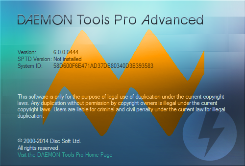 DAEMON Tools Pro Advanced 6.0