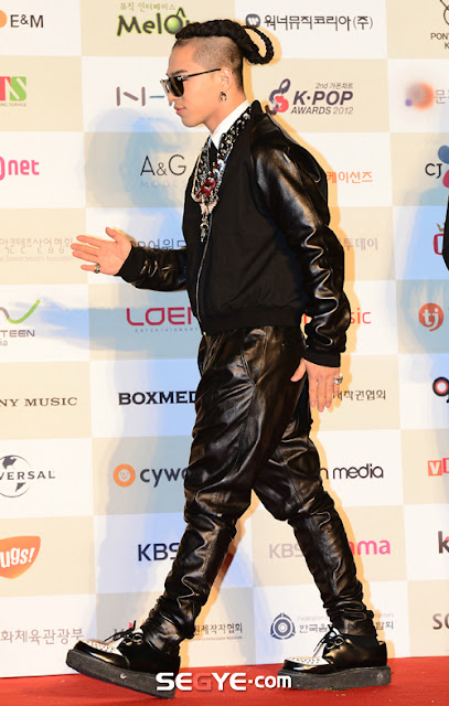 Taeyang at the Gaon chart kpop awards