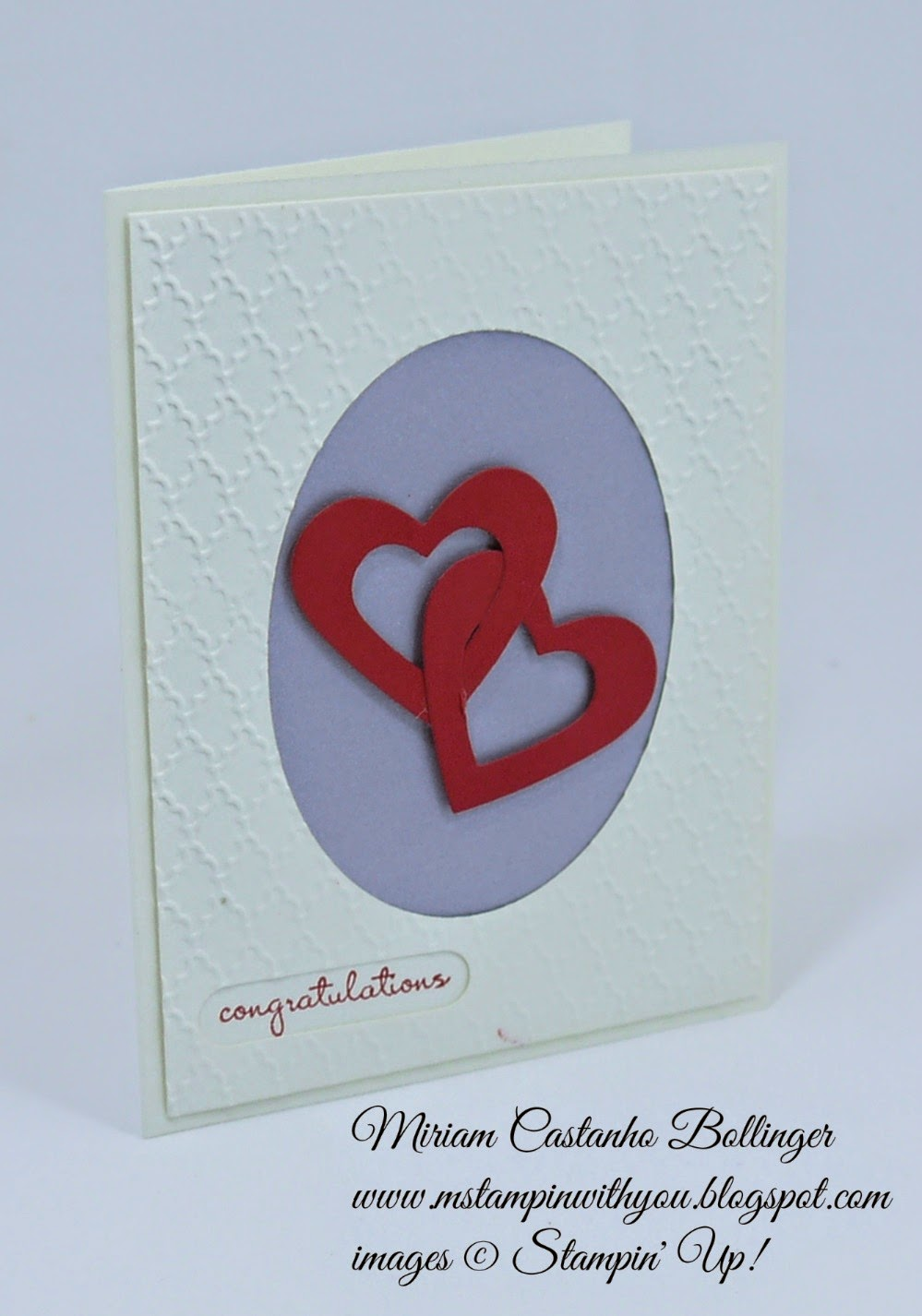 Wedding Card, Miriam Castanho Bollinger, #mstampinwithyou, stampin up, demonstrator, fancy folder, heart collection framelit, silver cardstock, su