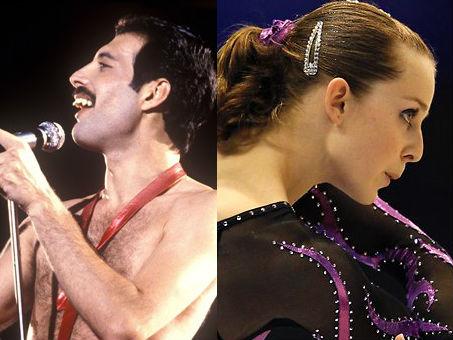 Freddie Mercury e Lauren Mitchell