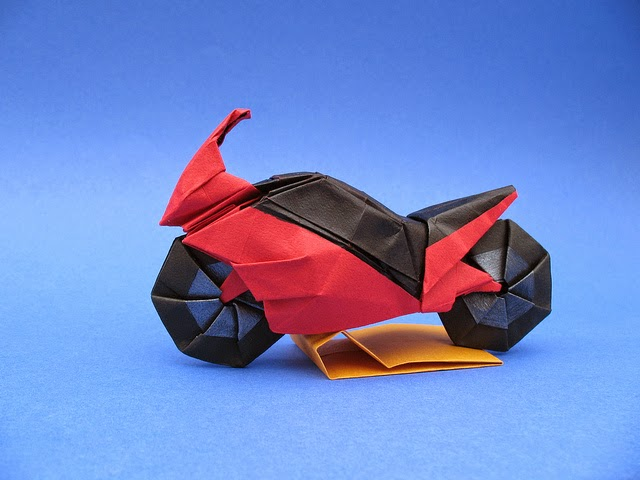 make origami motorbike easy origami instructions for