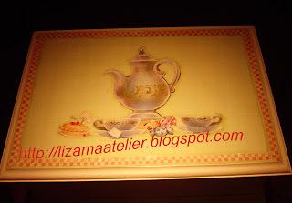 caixa de chá com decoupage