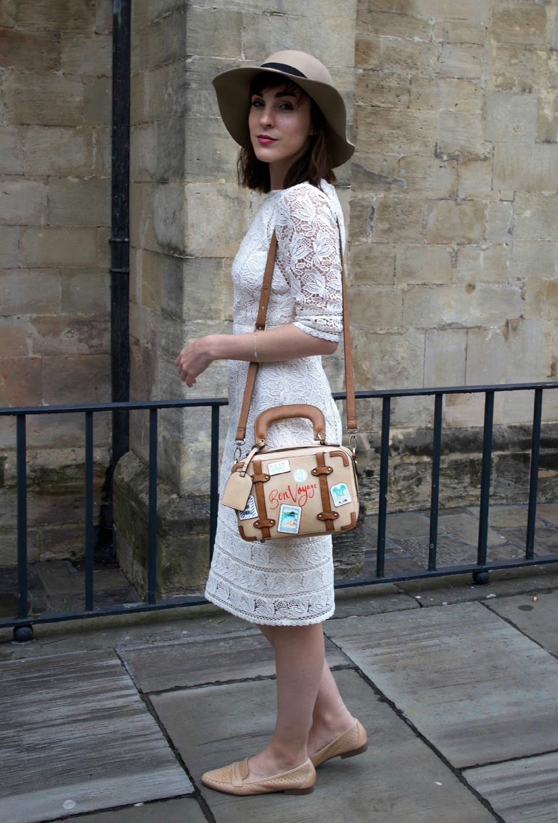 monsoon elvie dress and accessorize bon voyage bag