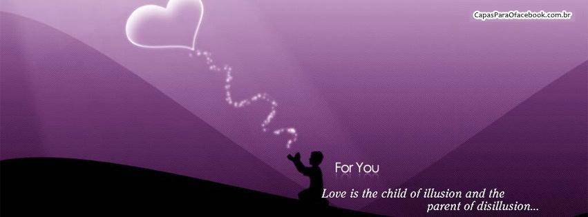 Capas para o Facebook com frases de amor   Copiado