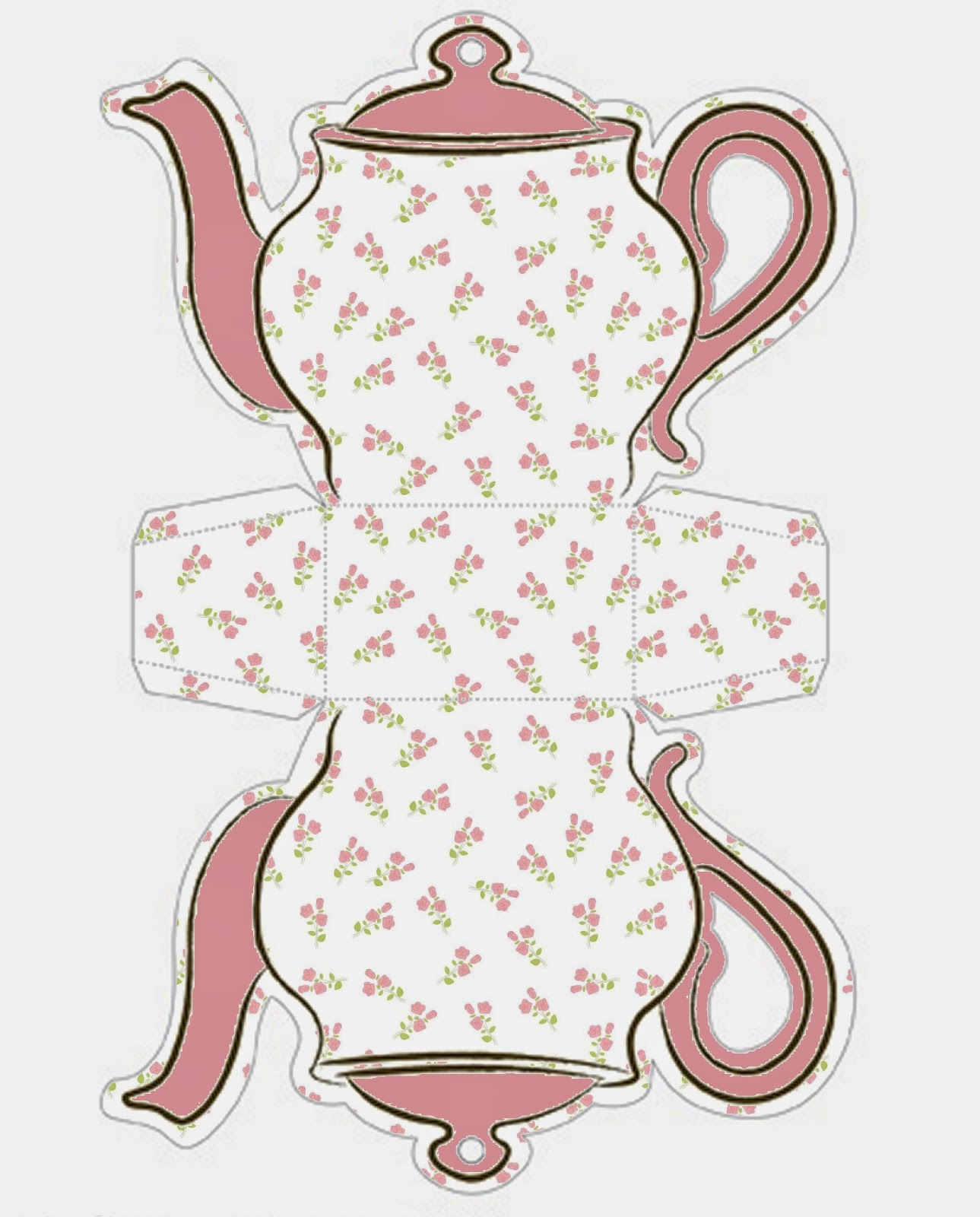 It is an image of Clever Teapot Template Printable