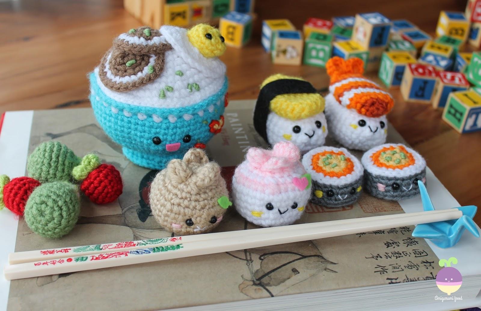 Amigurumi Food : Amigurumi food new crochet pattern bento family sushi set