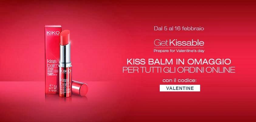 KIKO - Kiss Balm in omaggio per San Valentino