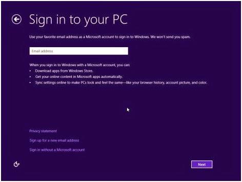Masukkan Email Microsoft kamu