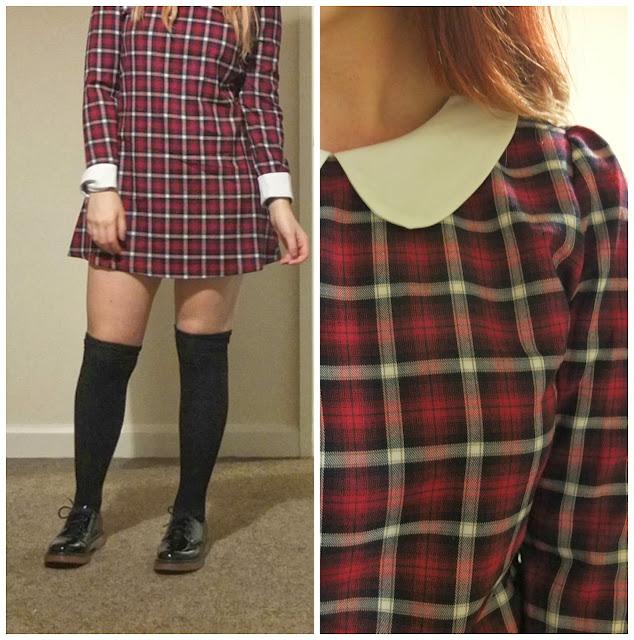 Tartan dress from Ark. UK fashion blog.