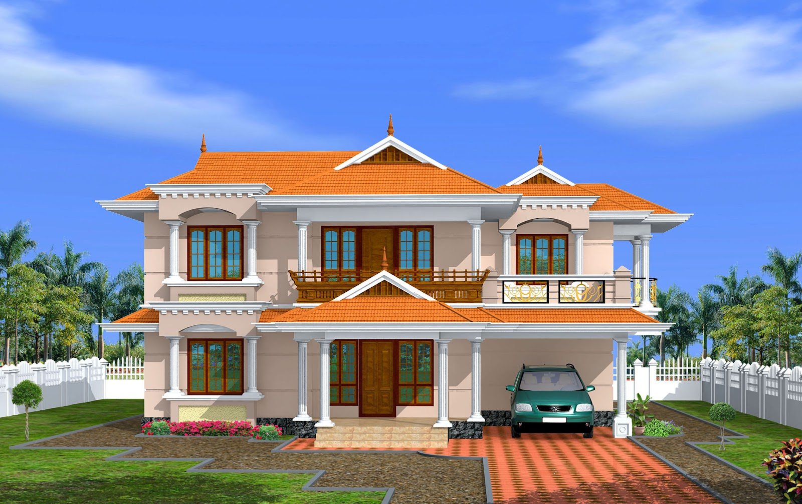 Green homes 4 bedroom kerala house design 2650 for House building companies