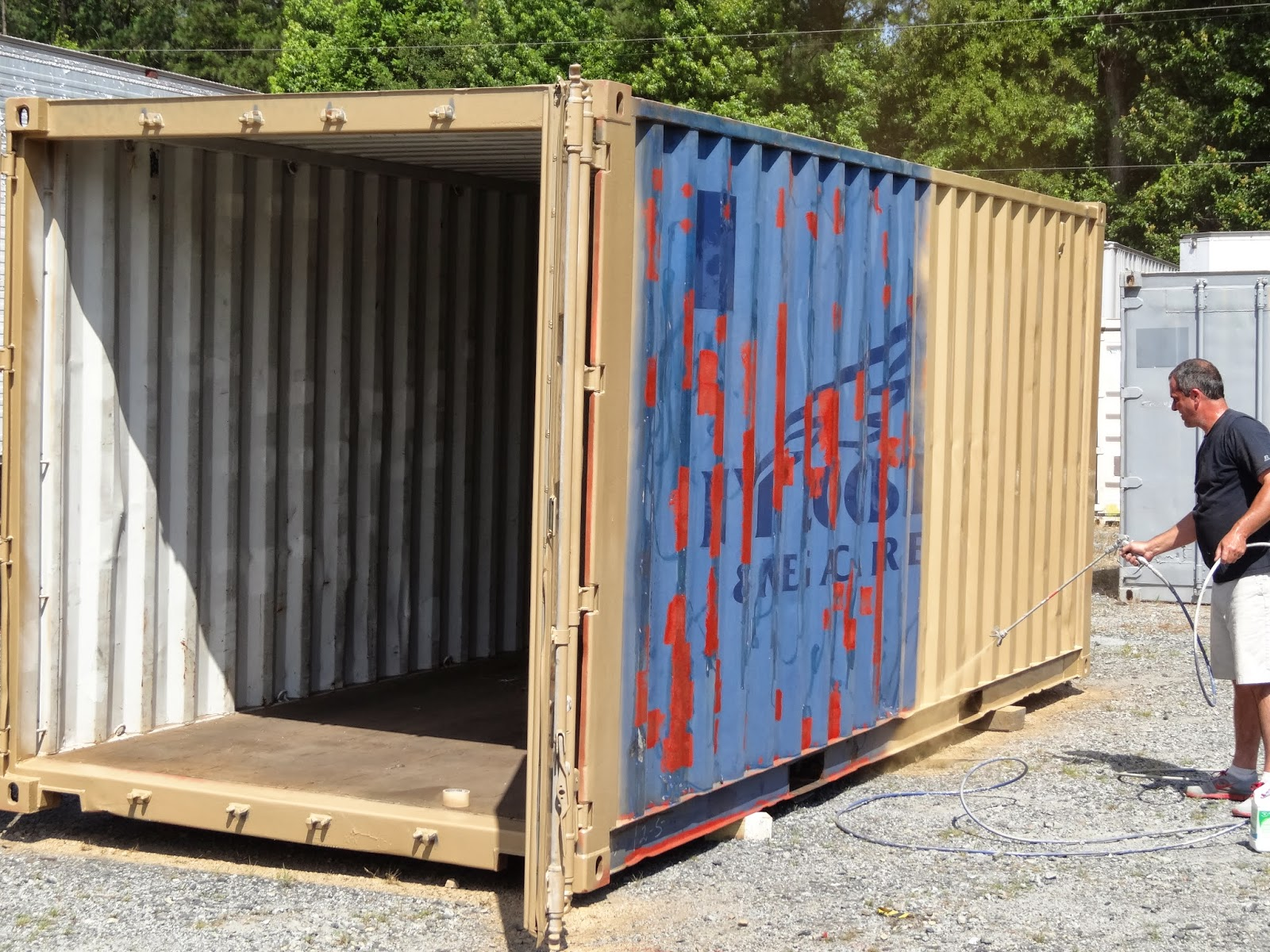 Used 20u0027 Container Cleaned, Spot Primed And Ready To Paint