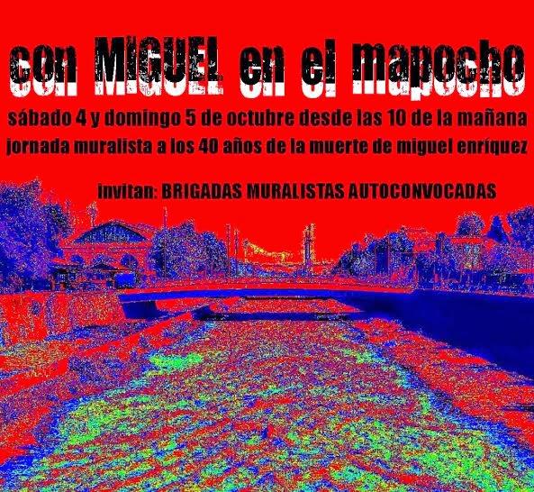 SANTIAGO CENTRO: JORNADA MURALISTA, CON MIGUEL EN EL MAPOCHO
