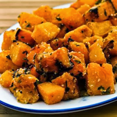 Roasted Butternut Squash with Lemon, Thyme, and Parmesan