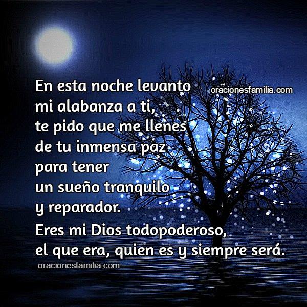 Oración corta de la noche, petición a Dios, gracias por el día que pasó. Buenas noches con bonita plegaria.