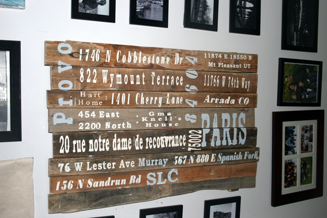 Subway style pallet sign