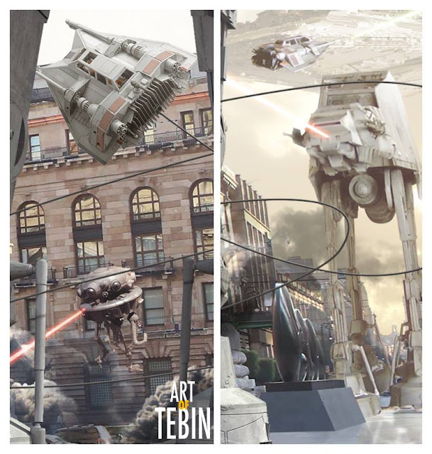 Escenas de la saga Star Wars bajo el escenario de la Ciudad de México