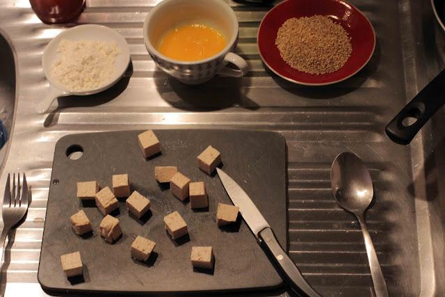 Tofu pané au sésame