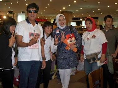 Ikang Fawzi  Kasihku Kampanye untuk Hanafi Rais di Yogyakarta, Marissa Grace Haque Fawzi.