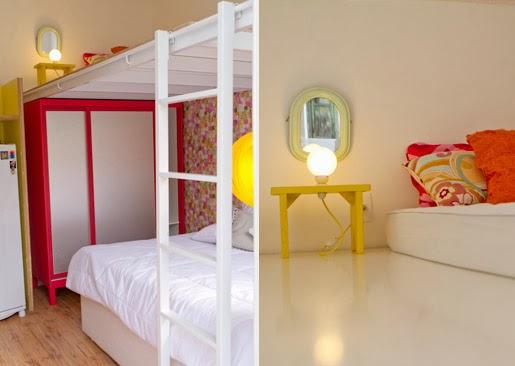 blog de decoração  Arquitrecos Cama suspensa, quarto suspenso , mezanino ou