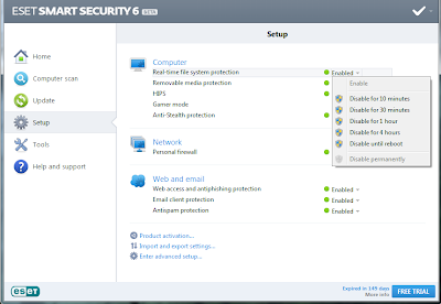 ESET Smart Security 6 RC + LifeTime Crack Latest Version 129 MB Direct link By www.freefullversionsoftwaregames.blogspot.com