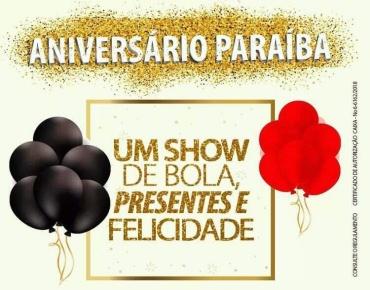 PARAÍBA - Aniversário Paraíba