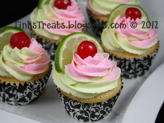 Tink's Treats: Cherry Limeade Cupcakes