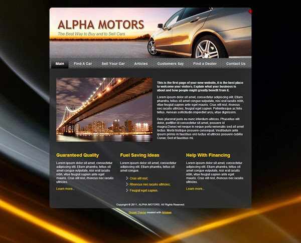 Alpha Motors - Free Drupal Theme