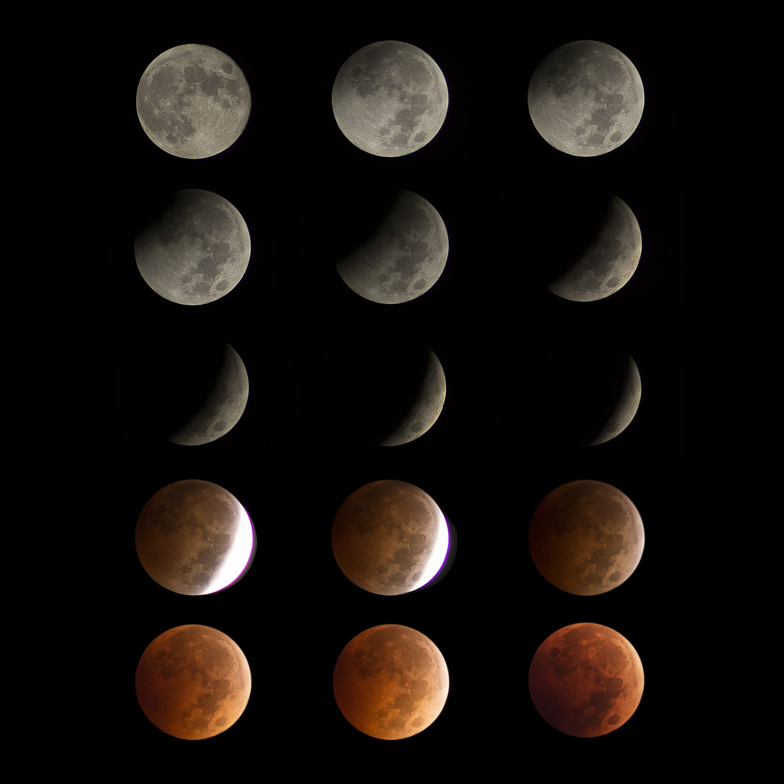 october 8 2014 lunar eclipse sequence