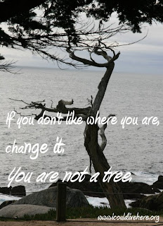 If you don't like where you are, change it