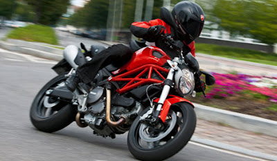 Ducati Monster 795 on the road