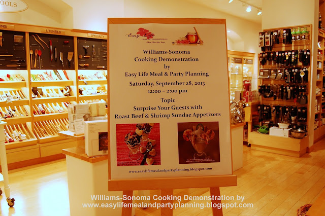 Williams-Sonoma Cooking Demonstration - Easy Life Meal & Party Planning