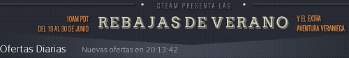Rebajas en STEAM